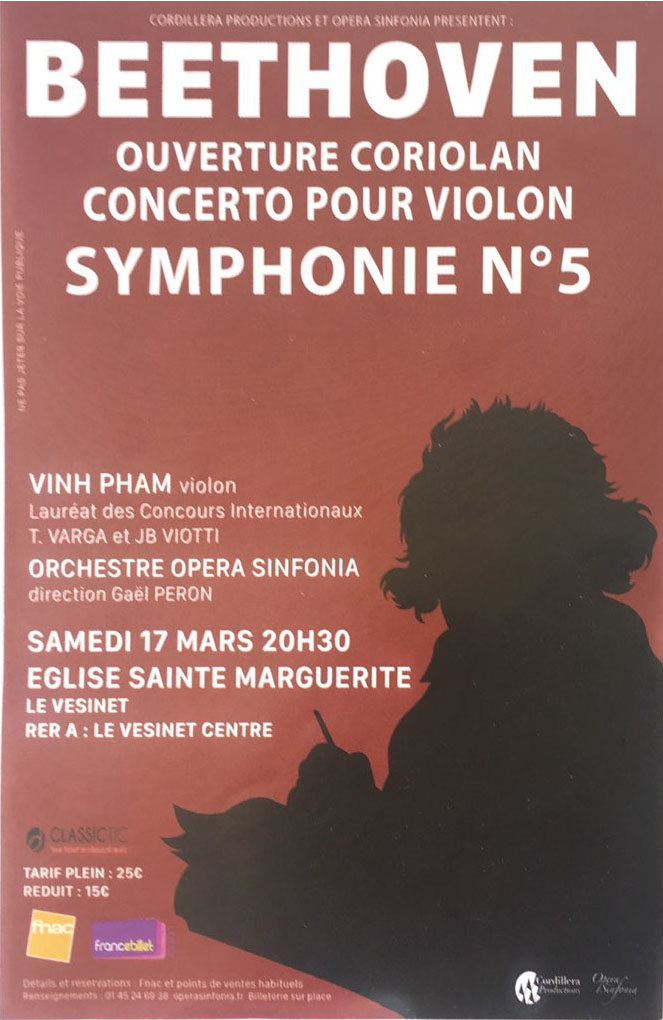 Concert Vinh Pham et l'orchestre Opera Sinfonia