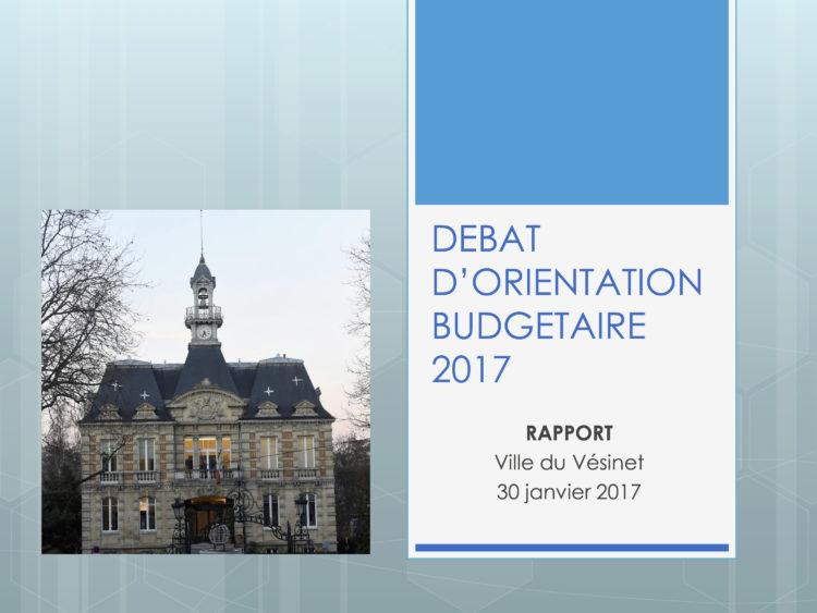 Débat d'orientation budgétaire 2017