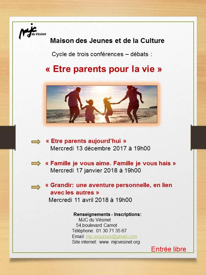 Conférence débat «Etre parent aujourd'hui»