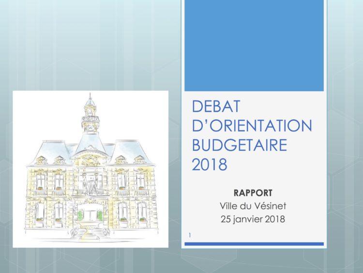 Débat d'orientation budgétaire (DOB) : une gestion rigoureuse et flexible de nos dépenses tout en traçant notre futur