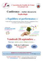 Conférence et atelier découverte proposé par l'AVF