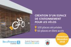 Création d'un abri et d'une consigne sécurisée Véligo en gare du Vésinet-centre