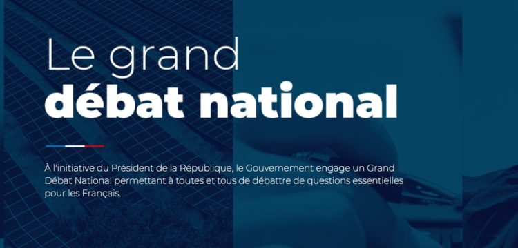 Grand débat national jusqu'au 15 mars 2019