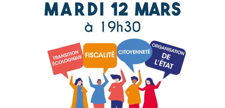 Réunion publique dans le cadre du grand débat national : mardi 12 mars à 19h30 en Mairie