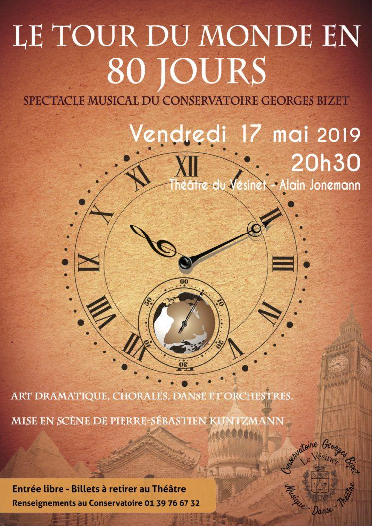 Spectacle du Conservatoire : «Le Tour du Monde en 80 jours»