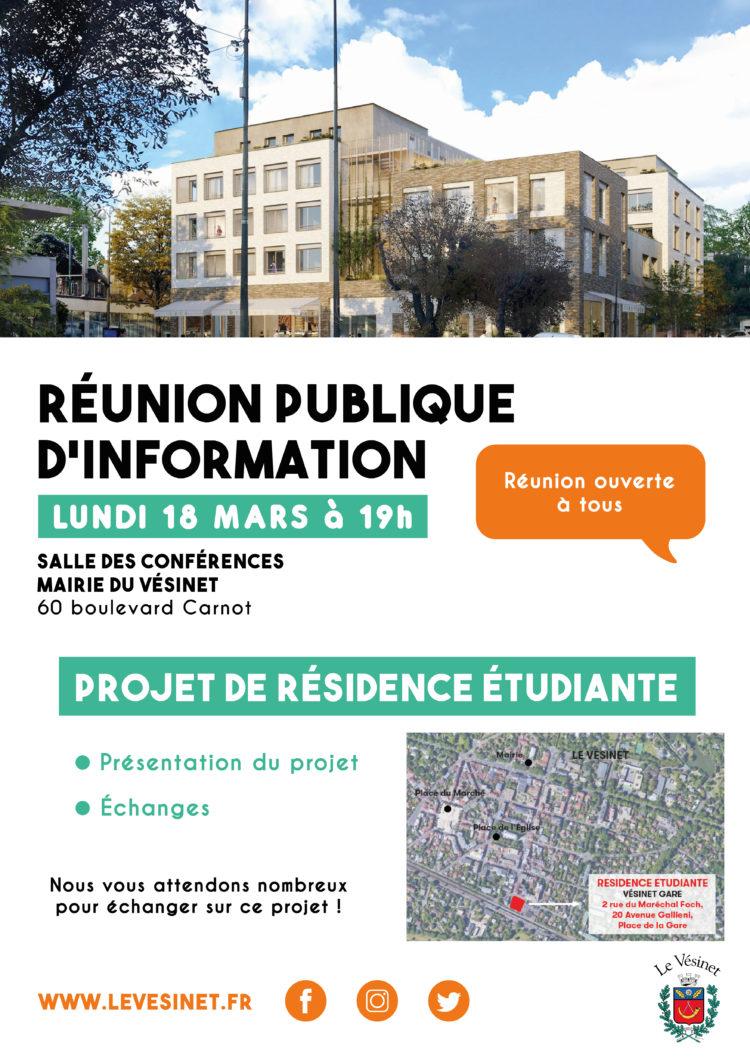 Réunion publique sur le projet de résidence étudiante