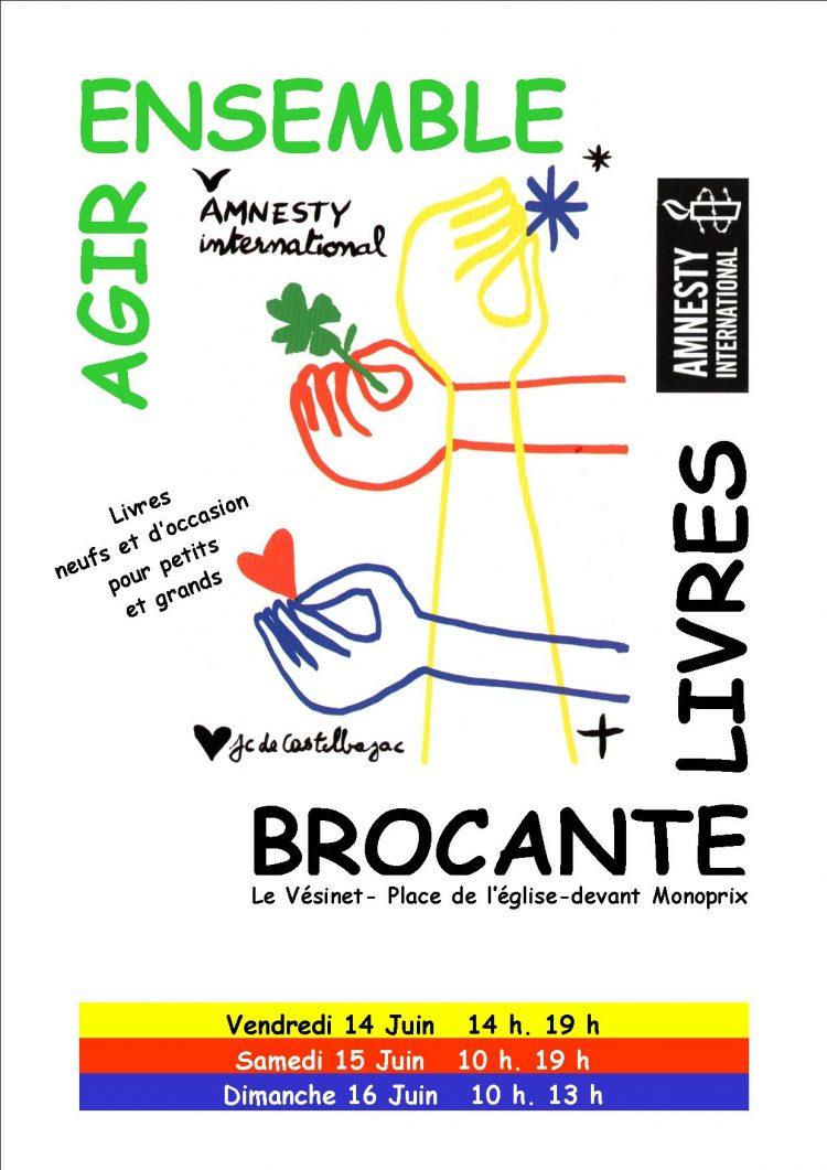 Vente de livres par Amnesty International