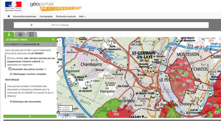 Le PLU du Vésinet désormais accessible sur le Géoportail de l'Urbanisme