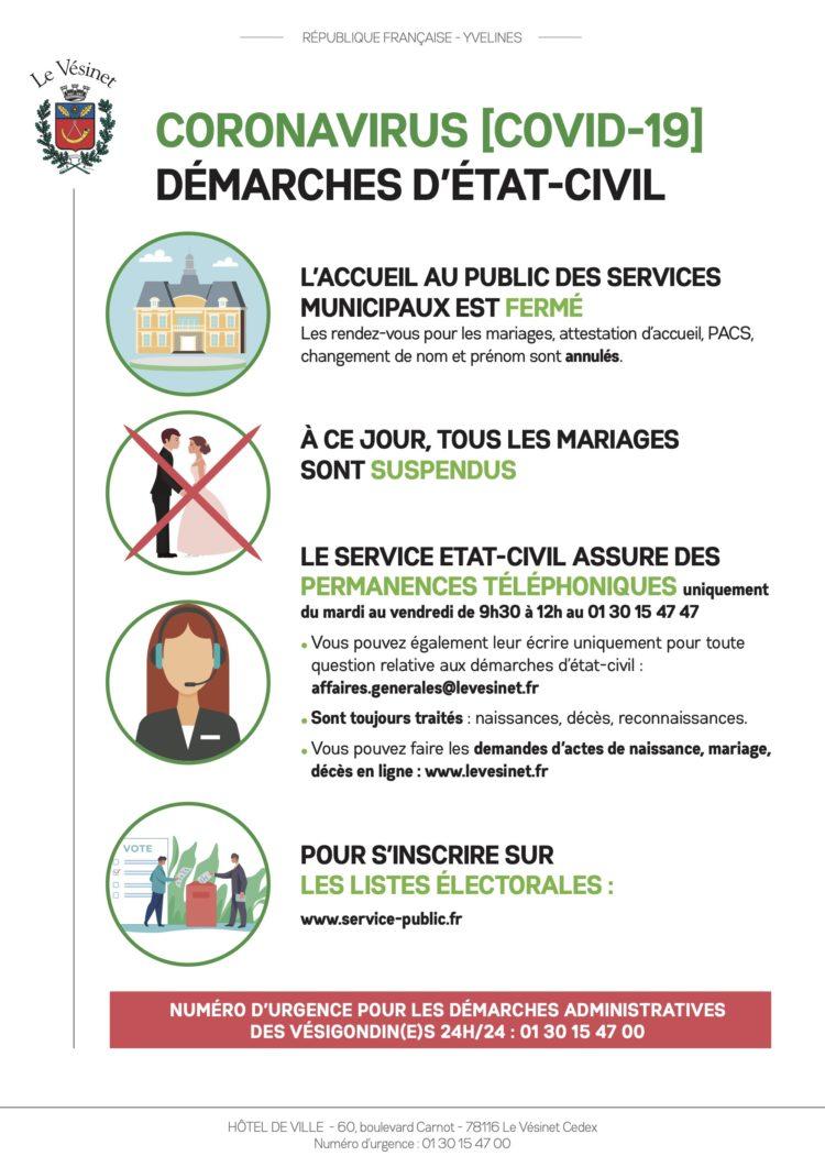 [CORONAVIRUS] : mode d'emploi pour les démarches d'état-civil