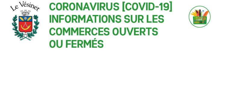 [COVID-19] Commerces ouverts ou fermés (mise à jour au 27/03/2020)