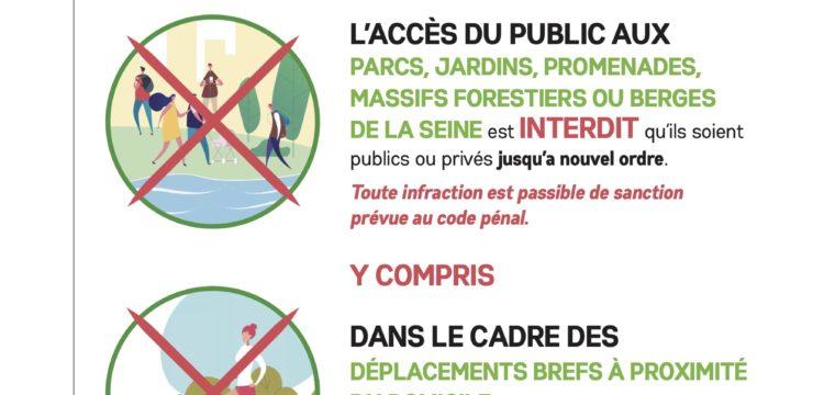 [COVID-19] : interdiction totale d'accès aux parcs, jardins, promenades du Vésinet