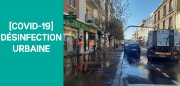 [COVID-19] : la Ville effectue une désinfection urbaine des rues et trottoirs