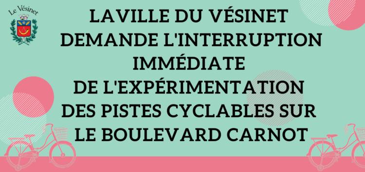Pistes cyclables sur le boulevard Carnot : la Ville demande l'interruption immédiate de l'expérimentation du Département