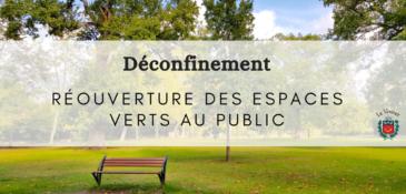 Déconfinement : réouverture des parcs et jardins