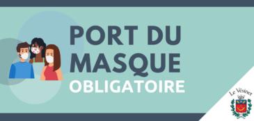 Le port du masque de nouveau obligatoire dans certaines situations et lieux