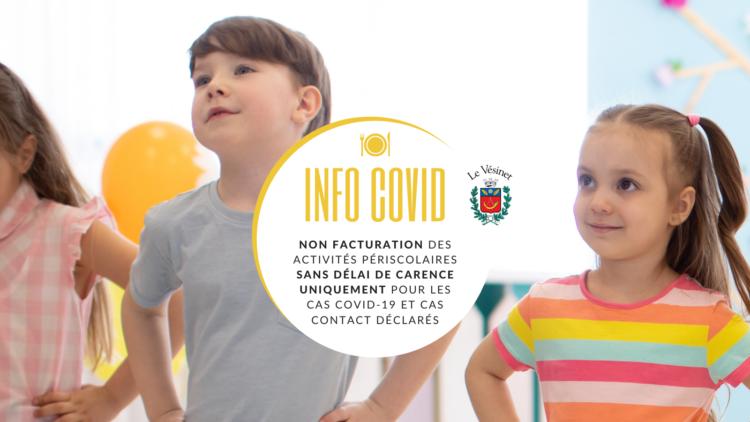 Covid-19 : Facturation des activités périscolaires